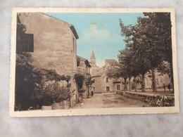 Rivières De Theyrargues - CP Animée - La Place De La Mairie - Sonstige Gemeinden