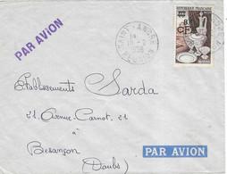 1956 / Enveloppe Avion / Cachet Saint-André / Réunion / Timbre 40 F Surchargé 8 F CFA / Exp Permaye à Saint-Anuré - Ohne Zuordnung