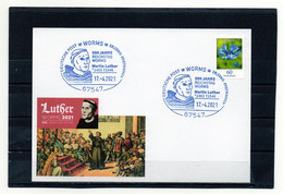 BRD, 2921, Karte Mit Michel 3468, Sonderstempel Worms, 500 Jahre Reichstag Worms/Luther - Cartas