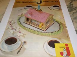 ANCIENNE PUBLICITE 1 ANS POUR LES   MAGASINS  J 1961 - Alcools