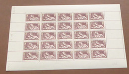 France - 1937 - N°Yv. 356 - Sauver La Race - Feuille Complète - Neuf Luxe ** / MNH / Postfrisch - Full Sheets