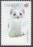 CANADA  2021 DIE CUT   HERMINE  SNOW MAMMALS,  MAMMIFERES DES NEIGES 10 STAMPS MNH - Single Stamps