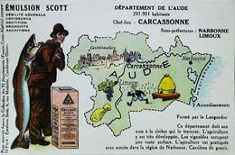 ► CPA - AUDE Carcassonne Narbonne Limoux Vignoble Apiculture Carrière De Granit (DEPARTEMENT Collection Emulsion SCOTT) - Carcassonne