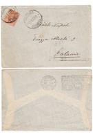 WQ368   Regno 1927 Lettera Messina Per Catania, Michetti 60c Con Annullo Targhetta Vittoria Del Grano - Marcophilia
