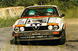 AUTOMOBILISME / ITALIA / RALLYE : PILOTI RALLY FAENZA / RACING TEAM : LUCIANO SCARPELLI & GOFFREDO GAETA - 1984 (ah133) - Rally Racing