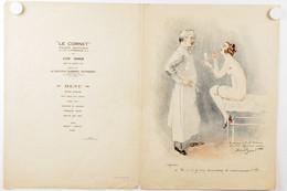 Menu.1928 Chirurgien-Gynécologue.l'opérée : Et Si Je Vous Demandais De Recommencer ! ? !  érotique. Femme Nue. - Menus