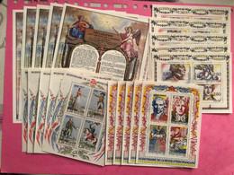 France ** Lot De 20 Blocs  10/11/12/13 X 5 .RÉVOLUTION FRANÇAISE A VOIR !!!! - Collections