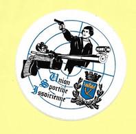 AUTOCOLLANT STICKER - UNION SPORTIVE ISSOIRIENNE -ISSOIRE  - CLUB DE TIR - SPORT - Stickers