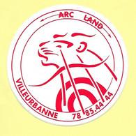 AUTOCOLLANT STICKER - ARC LAND VILLEURBANNE - TIR A L'ARC - SPORT - Stickers