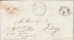 A71. Mogliano. 1867. Annullo Piccolo Cerchio MOGLIANO + MUNICIPIO MOGLIANO,  Su Lettera In Franchigia, Completa Di Testo - Marcofilía