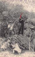 Valais - Idylle Champêtre - Foulards Rouges - Ed. J.J. Jullien 5219 - VS Valais