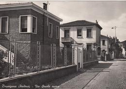 BRUSEGANA-PADOVA-VIA SCUOLE NUOVE-CARTOLINA  VERA FOTOGRAFIA VIAGGIATA TRA IL 1958-1960 - Padova