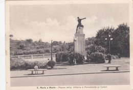 SANTA MARIA A  MONTE-PISA-PIZZA DELLA VITTORIA-MON. AI CADUTI-CARTOLINA VIAGGIATA NEL 1942 - Pisa