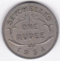 Seychelles 1 Rupee 1954 . Elizabeth II . KM# 13 - Seychelles