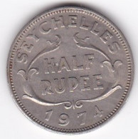 Seychelles 1/2 Rupee 1974 . Elizabeth II . KM# 12 - Seychelles