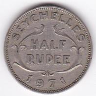 Seychelles 1/2 Rupee 1971 . Elizabeth II . KM# 12 - Seychelles