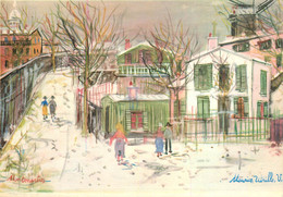 CPSM Illustration Utrillo-Le Maquis De Montmartre        L548 - Utrillo