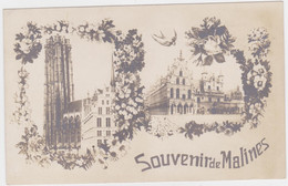 Mechelen - Souvenir De Malines (niet Gelopen Kaart) - Mechelen
