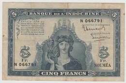 5 Francs NOUMEA  1944  Pick # 48 - Indochina
