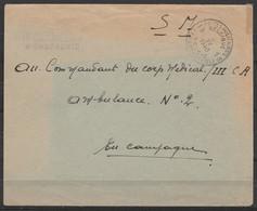 """L. En S.M. (Service Militaire) Franchise - Càd POSTES MILITAIRES BELGIQUE 18/9 IV 1940 - Griffe Bil.""""38e Régiment De Lig - Military Post"""