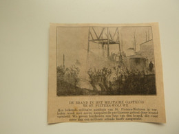 "Origineel Knipsel ( D 560 ) Uit Tijdschrift "" Ons Volk "" 1920 :   Brand St. Pieters - Woluwe - Ohne Zuordnung"