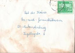 !  DDR Brief Aus Neubrandenburg, Brief Durch Feuerwerkskörper Beschädigt, Hinweiszettel - Briefe U. Dokumente