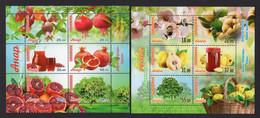 Kyrgyzstan 2020, 2021 Flora. Fruits. Pomegranat & Quince. 2 M/S** - Kyrgyzstan