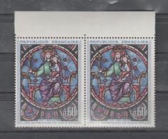 FRANCE / 1964 / Y&T N° 1419 ** : Rosace Notre-Dame De Paris (800 Ans) X 2 En Paire (tous BdF Haut) - Ungebraucht