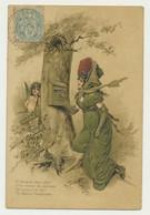 Carte Fantaisie Illustrateur Gaufrée  Ange Femme Boîte Aux Lettres - Angeles