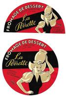 2 ETIQU.FROMAGE LA PERRETTE ULV Centr. Laitière De Lausanne - Cheese