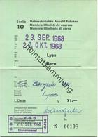 Schweiz - Lyss Bern - Fahrkarte Für Unbeschränkte Anzahl Fahrten - 1. Classe Sept./Okt. 1968 - Europe