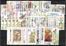 Tchécoslovaquie 1978 Mi 2421-2484+Bl.34-8 (Yv 2254-2308+ BF 43-5+2257 Feuille), Obliteré, L'annés Complete - Años Completos