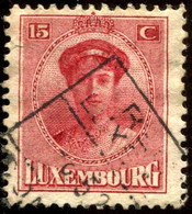 Pays : 286,04 (Luxembourg)  Yvert Et Tellier N° :   123 (o) - 1921-27 Charlotte Frontansicht