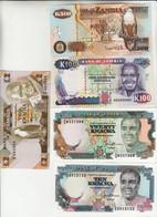 Zambia, Lotto 5 Banconote FDS - Zambia
