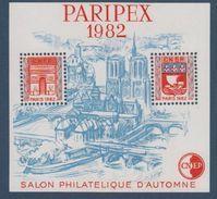 CNEP-1982-N°3A** PARISPEX.Salon Philathélique De PARIS.TYPE II - CNEP