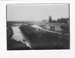 GIVORS PONT DES SOUPIRS CANAL PENICHE RHONE 69 PHOTO ORIGINALE - Lugares