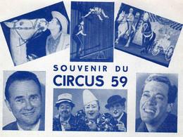 Petite Affichette Du  CIRCUS 59  - Format  Carte Moderne - Programmi