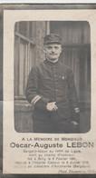 ABL, Lebon , Né à Gilly 1891 - Cabour 1916 - Obituary Notices
