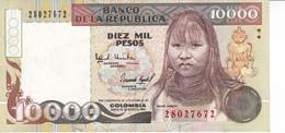 BILLETE DE COLOMBIA DE 10000 PESOS DE ORO AÑO 1993 EN CALIDAD EBC (XF) (BANKNOTE) - Colombia