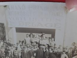 CARTE PHOTO / GRAND PRIX DE 1908 AUTOMOBILE CLUB DE FRANCE VOITURETTES DELAGE /COURSE AUTOMOBILE  ANIMATION / DOS SCANNE - Ohne Zuordnung