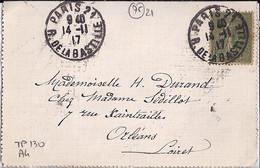 75 - PARIS 21 / R. DE LA BASTILLE - 1917 - TaD DE TYPE A4 - Bolli Manuali