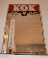 Ancien Miroir Avec Thermomètre Limonade Marque KOK - Miroirs