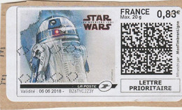 MONTIMBRENLIGNE STAR WARS 2018 OBLITERE - Personalized Stamps (MonTimbraMoi)