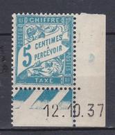 N° 28 Taxes Coins Daté 5c Bleu Neuf Impeccable - Non Classificati