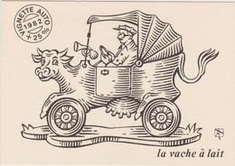 THINLOT Albert - Politique Vignette Auto Vache Lait  - CPM 10,5x15 TBE 1982 Neuve - Andere Zeichner