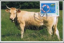 FRANCE 2017 - C.M. Vache Race Villard De Lans - Obl. Temp. 29 Et 30.07.2017 Sur Timbre à Moi*Fête Du Bleu Du Vercors - Landwirtschaft