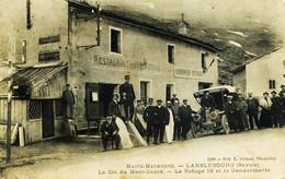 1395 -  Maurienne LANSLEBOURG - REFUGE 18 ET GENDARMERIE - RESTAURANT   Mont Cenis Grimal 1189  Circulée - Andere Gemeenten