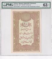 Turkey Ottoman Empire 10 Kurush 1877 UNC Mehmed Kani PMG 63 EPQ - Turkey
