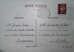 G 5 1939/45 Courrier Entier Postal école De Santé Navale à Montpellier - Correo Naval