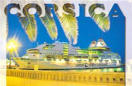 """Cpsm Bateau Ferries """" Bonaparte """" 1996 Chantiers De L'Atlantique Saint Nazaire   S.N.C.M Corse - Ferries"""